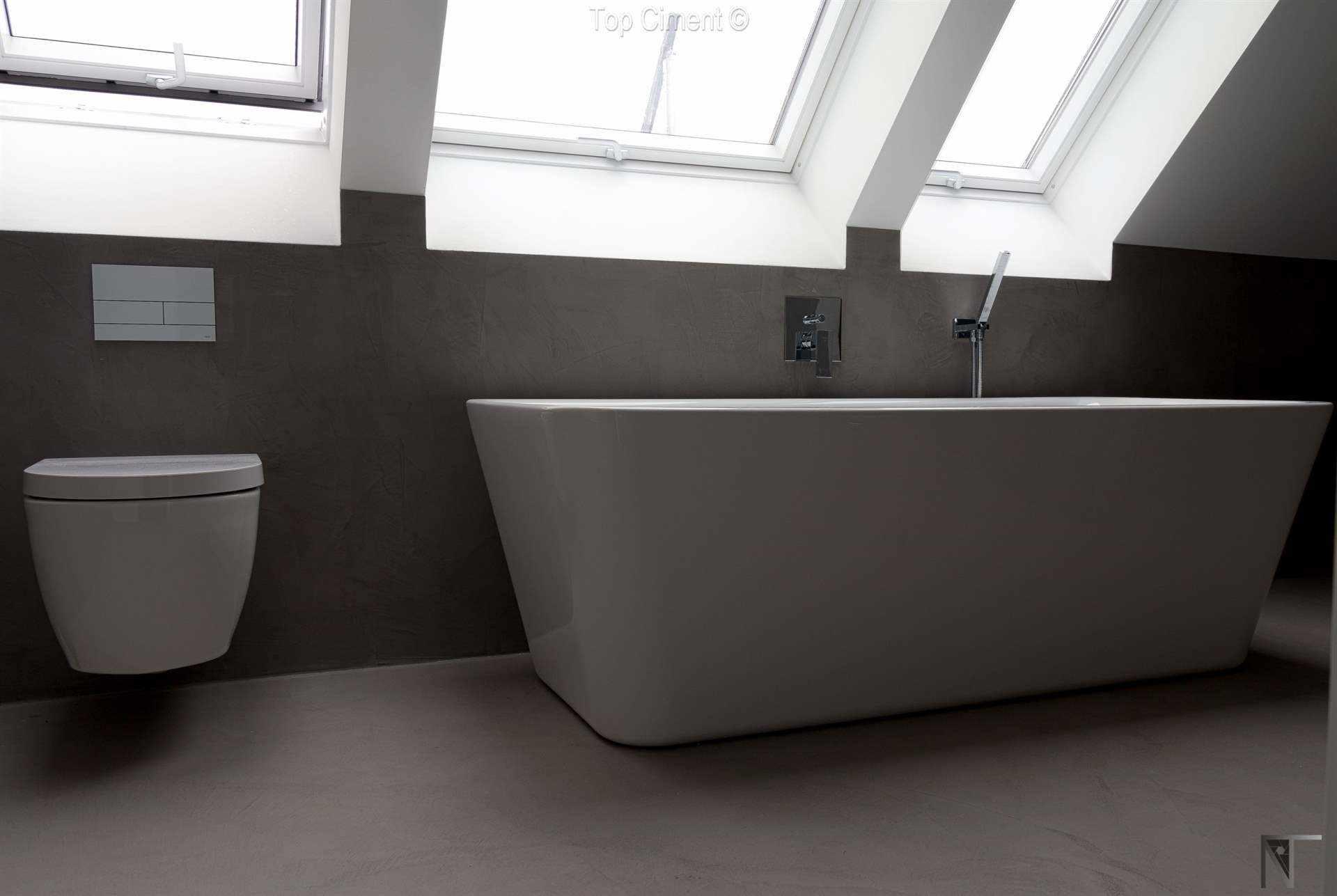 Baño reformado con microcemento Topciment