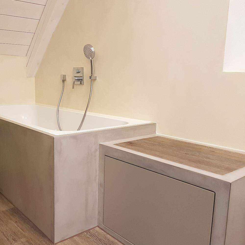 revestimiento cemento pulido baños