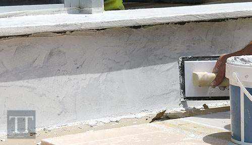 microcemento con efecto piedra