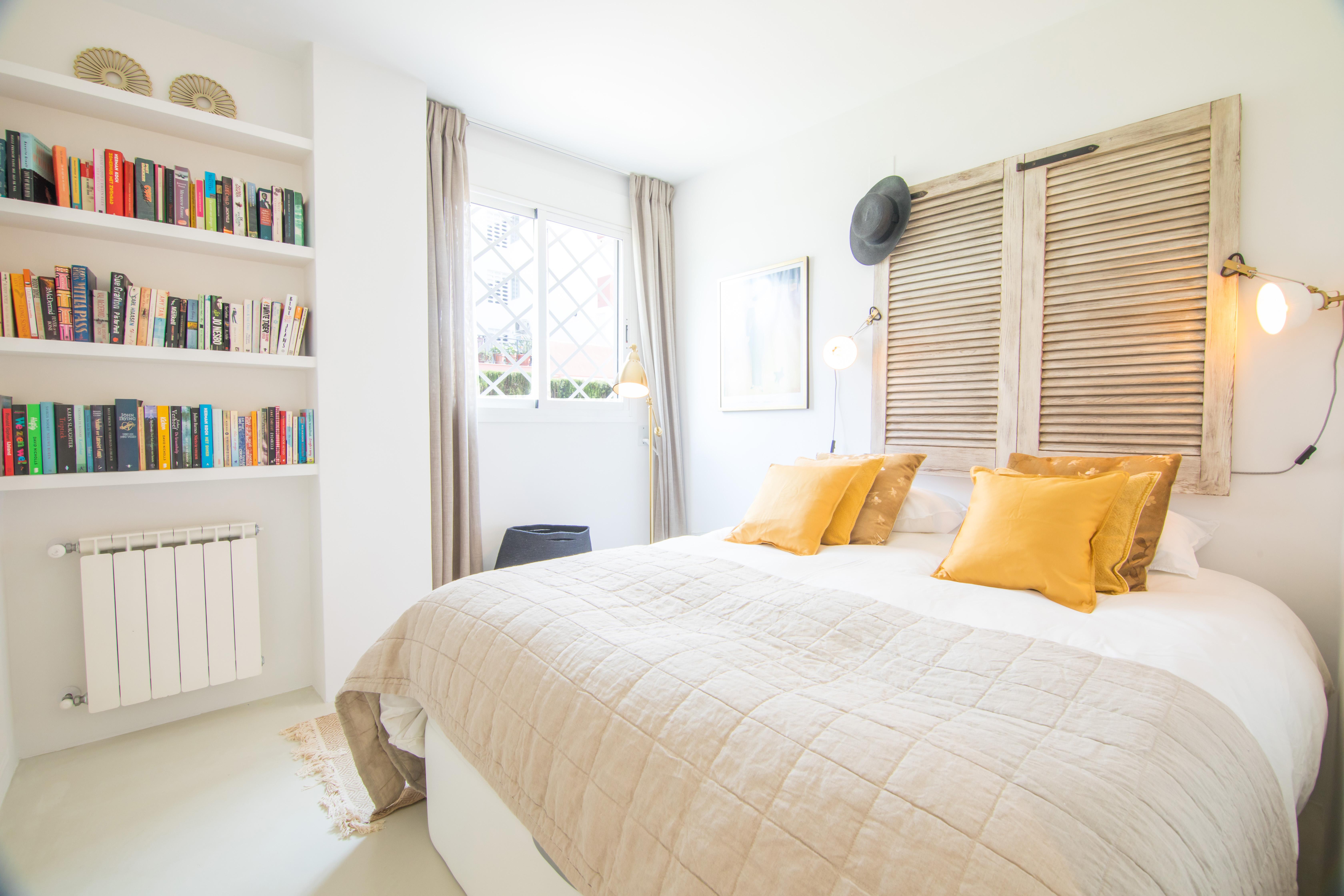 Schlafzimmer Off-White Mikrozementboden