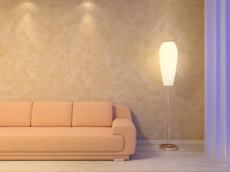 pared con estuco veneciano en salon