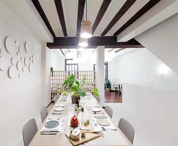 proyecto rebost borja restaurante con microcemento