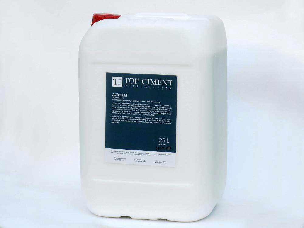 Acricem Resina acrílica para la preparación de microcemento bicomponentes
