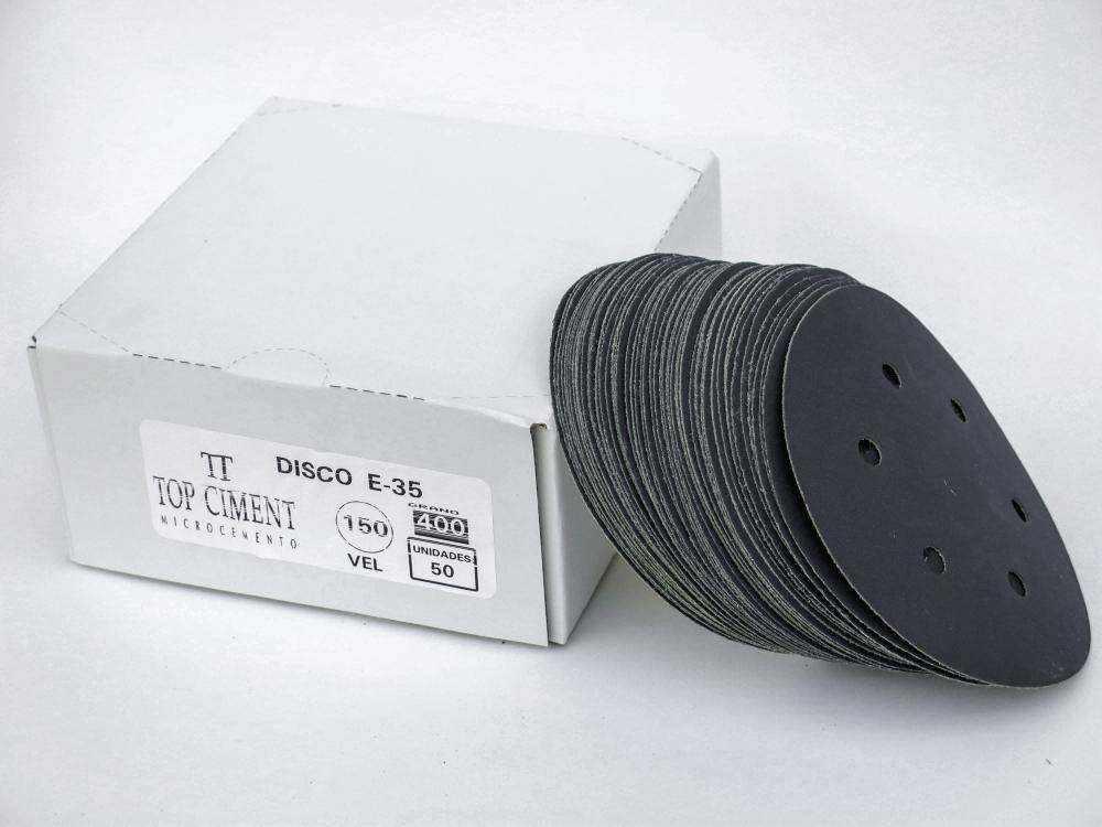 Lija de disco 150mm caja de 50 unidades Repuesto de lijas de grano 24 40 80 120 220 y 400