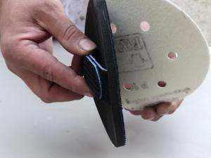 Almohadilla redonda regulable para lijado a mano con lija base de velcro