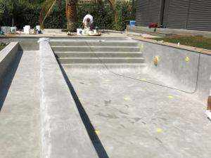 Aplicación de Microcemento para revestimiento de piscinas Aquaciment