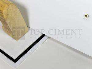 Llana de goma blanca para microcemento