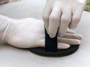 Manopla redonda regulable para lijado a mano con lija base de velcro