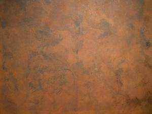 Pintura de Hierro textura fina sobre fondo negro