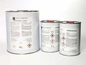 Topsealer DSV 4 + 2 l. Acryl-Polyurethan Lösemittelbasis mit Katalysator für den Schutz von Mikrozement für innen und aussen