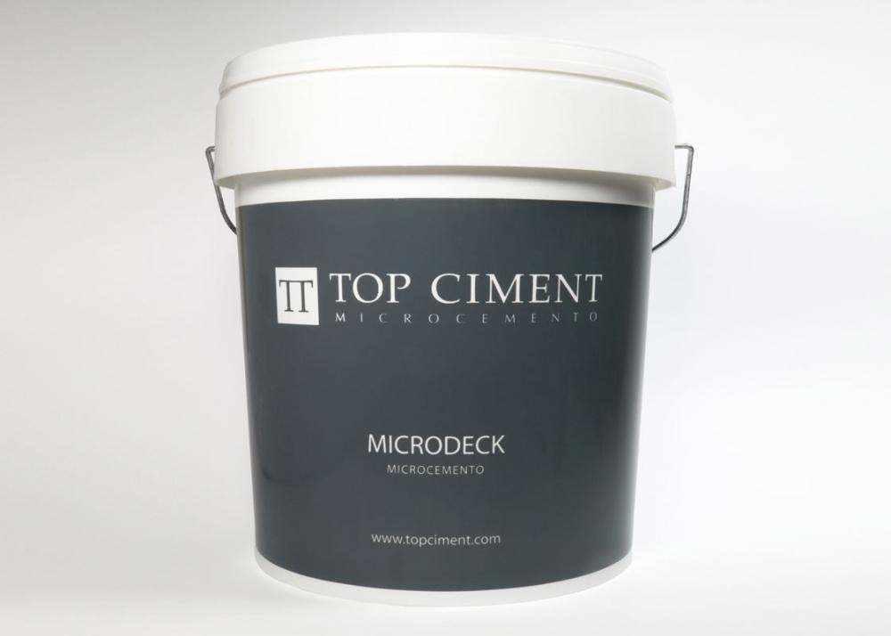 Microcemento Microdeck bicomponente micro texturado, para pavimentos continuos o baños