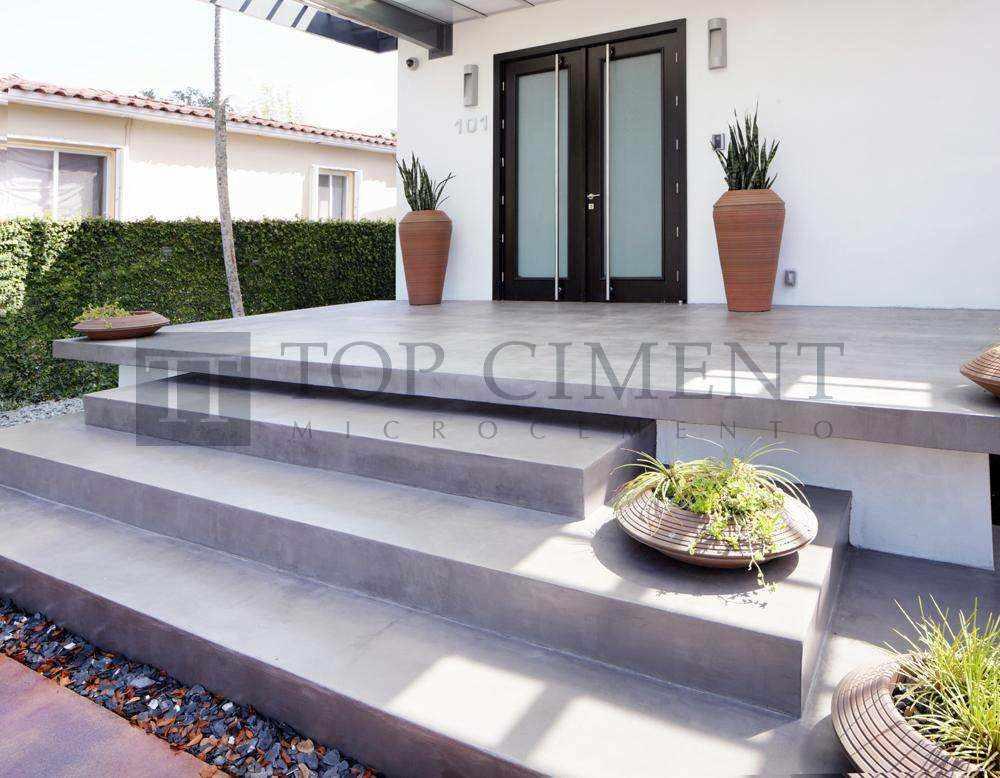 Fotos de suelos de microcemento en interior y exterior for Pavimentos ecologicos para exteriores