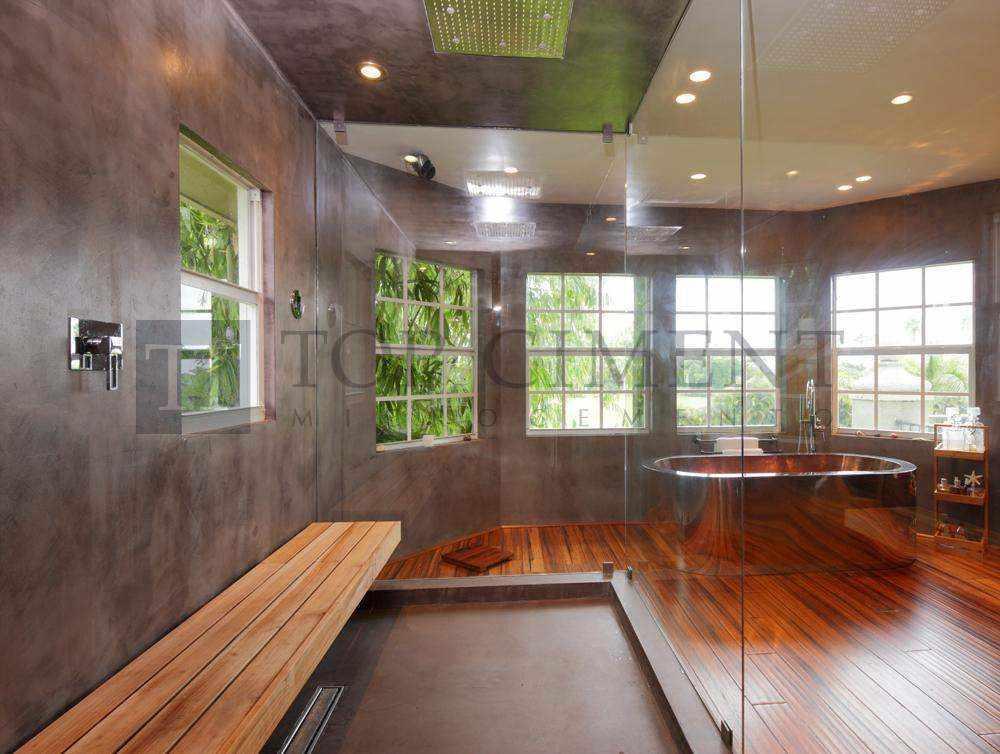 Baños Microcemento Fotos:revestimiento decorativo con microcemento para el suelo y pared de una